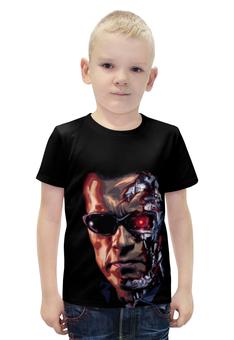 """Футболка с полной запечаткой для мальчиков """"Терминатор (Terminator)"""" - терминатор, арни, арнольд шварценеггер, шварц, the terminator"""