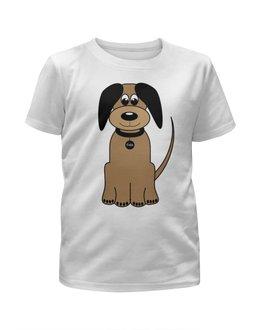 """Футболка с полной запечаткой для мальчиков """"мульт -пес собака."""" - пес, собака, мульт"""