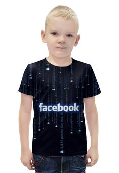 """Футболка с полной запечаткой для мальчиков """"Фейсбук """" - лайк, социальная сеть"""