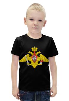 """Футболка с полной запечаткой для мальчиков """"Вооружённые Силы. Эмблема"""" - армия, эмблема, вооружённые силы"""