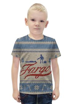 """Футболка с полной запечаткой для мальчиков """"Фарго / Fargo"""" - рисунок, кино, сериал, фарго"""