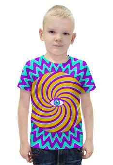 """Футболка с полной запечаткой для мальчиков """"HYPNO EYE"""" - арт, дизайн, графика, optical illusion, оптическая иллюзия"""