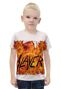 """Футболка с полной запечаткой для мальчиков """"Slayer Repentless 2015 (3)"""" - музыка, рок, металл, slayer, thrash metal"""