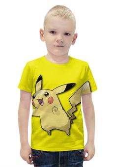 """Футболка с полной запечаткой для мальчиков """"Пикачу"""" - нинтендо, nintendo, pikachu, pokemon go, покемон го"""