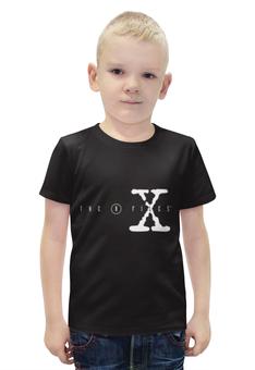 """Футболка с полной запечаткой для мальчиков """"Секретные Материалы (X-Files)"""" - секретные материалы, фокс малдер, дана скалли"""