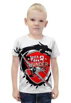 """Футболка с полной запечаткой для мальчиков """"War Thunder"""" - арт, war thunder"""