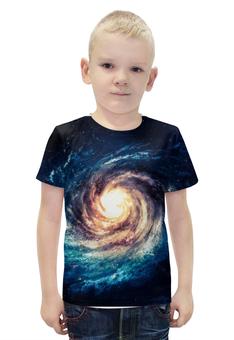 """Футболка с полной запечаткой для мальчиков """"галактика"""" - звезды, космос, спираль, красота, галактика"""
