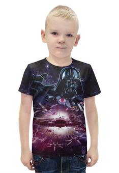 """Футболка с полной запечаткой для мальчиков """"Star Wars/Звездные войны"""" - звездные войны, starwars, дарт вейдер, сокол тысячелетия"""