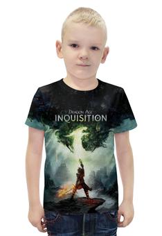 """Футболка с полной запечаткой для мальчиков """"Dragon Age Inquisition """" - rpg, драгон эйдж инквизиция"""