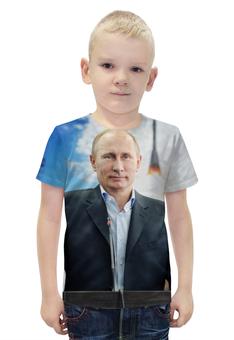 """Футболка с полной запечаткой для мальчиков """"Путин (Putin)"""" - россия, russia, путин, putin"""