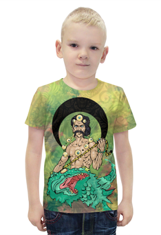 """Футболка с полной запечаткой для мальчиков """"Варуна"""" - арт, авторские майки, индуизм, мифология, боги"""