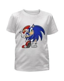 """Футболка с полной запечаткой для мальчиков """"Sonic"""" - игры, ежик, мульт, соник, sonic"""