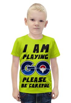 """Футболка с полной запечаткой для мальчиков """"Pokebol Go"""" - покебол"""