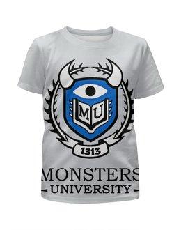 """Футболка с полной запечаткой для мальчиков """"Monsters University"""" - мультфильм, кино, cinema, университет монстров, monsters university"""
