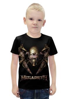 """Футболка с полной запечаткой для мальчиков """"Megadeth Band"""" - skull, череп, рок музыка, thrash metal, megadeth"""