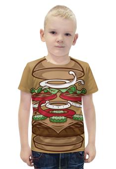 """Футболка с полной запечаткой для мальчиков """"BURGER/БУРГЕР"""" - арт, еда, burger, burger king"""