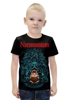 """Футболка с полной запечаткой для мальчиков """"Necronomicon"""" - смерть, evil dead, некрономикон, necronomicon, книга мёртвых"""