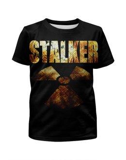 """Футболка с полной запечаткой для мальчиков """"STALKER!!!"""" - сталкер, радиация, stalker, survival, выживание"""