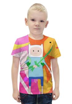 """Футболка с полной запечаткой для мальчиков """"Время приключений / Adventure Time"""" - арт, рисунок, время"""