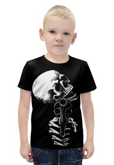 """Футболка с полной запечаткой для мальчиков """"Skull Art"""" - skull, череп, пистолет, gun, арт дизайн"""