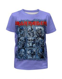 """Футболка с полной запечаткой для мальчиков """"Iron Maiden Band"""" - heavy metal, рок музыка, рок группа, iron maiden, eddie"""
