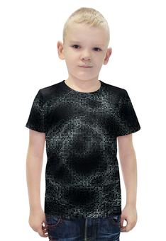 """Футболка с полной запечаткой для мальчиков """"SAMUR TECH!!!"""" - space, пиксели, геометрические волны, pixels, виртуальная реальность"""