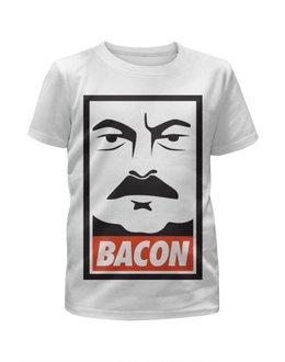 "Футболка с полной запечаткой для мальчиков ""Ron Swanson (Bacon)"" - obey, ron swanson, рон свонсон, bacon"