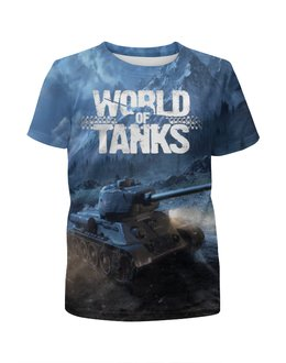 "Футболка с полной запечаткой для мальчиков ""World of Tanks"" - 23 февраля, world of tanks, танки, wot"
