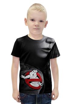 """Футболка с полной запечаткой для мальчиков """"Охотники за привидениями / Ghostbusters"""" - рисунок, кино, охотники за привидениями"""