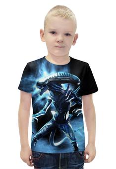 """Футболка с полной запечаткой для мальчиков """"Alien"""" - ужас, инопланетянин, чужой, тварь"""