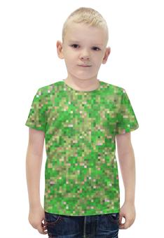 """Футболка с полной запечаткой для мальчиков """"Мультицвет Пиксельный Камуфляж"""" - армия, камуфляж, camouflage, военный, мультицвет пиксельный камуфляж"""