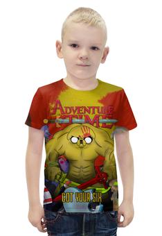 """Футболка с полной запечаткой для мальчиков """"Adventure Time - Got Your Six"""" - adventuretime, время приключений, 5fdp, fivefingerdeathpunch, gotyoursix"""