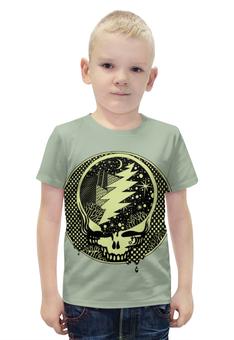 """Футболка с полной запечаткой для мальчиков """"Skull Art"""" - skull, череп, космос, молния, арт дизайн"""