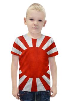 """Футболка с полной запечаткой для мальчиков """"Японский Флаг"""" - флаг, япония, japan, восходящее солнце"""