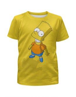 """Футболка с полной запечаткой для мальчиков """"Барт Симпсон"""" - мультфильм, симпсоны, the simpsons, bart, барт симпсон"""
