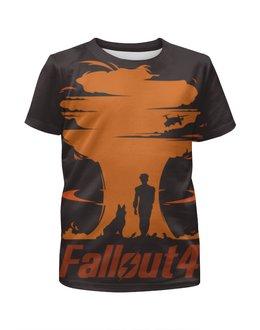 """Футболка с полной запечаткой для мальчиков """"Fallout 4"""" - игры, fallout, fallout 4"""