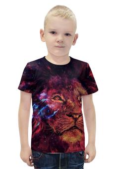 """Футболка с полной запечаткой для мальчиков """"Царь зверей"""" - лев, leon, царь зверей"""