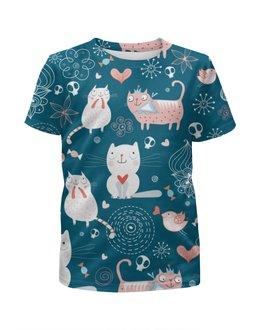 """Футболка с полной запечаткой для мальчиков """"Прикольные Коты"""" - кот, кошка, котенок, cat"""