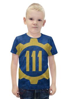 """Футболка с полной запечаткой для мальчиков """"Убежище 111 (Fallout 4)"""" - fallout, fallout 4, убежище 111, vault 111"""
