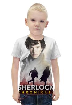 """Футболка с полной запечаткой для мальчиков """"Sherlock Holmes"""" - sherlock, шерлок, бенедикт камбербэтч"""