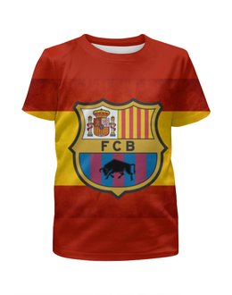 """Футболка с полной запечаткой для мальчиков """"FC Barcelona"""" - барселона, fc barcelona, барса"""