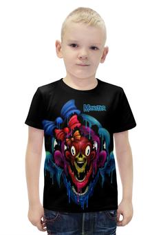 """Футболка с полной запечаткой для мальчиков """"Monster"""" - skull, череп, monster, монстр, арт дизайн"""