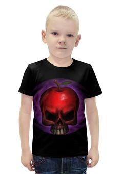 """Футболка с полной запечаткой для мальчиков """"Skull Art"""" - skull, череп, яблоко, apple skull, яблоко череп"""