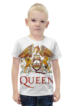 """Футболка с полной запечаткой для мальчиков """"Queen"""" - queen"""