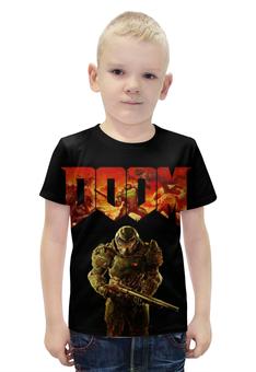 """Футболка с полной запечаткой для мальчиков """"Doom (Дум)"""" - doom, дум"""