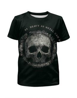 """Футболка с полной запечаткой для мальчиков """"Heavy Metal Art"""" - skull, череп, heavy metal, рок музыка, хеви метал"""