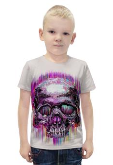 """Футболка с полной запечаткой для мальчиков """"Skull Art"""" - skull, череп, арт, графика, арт дизайн"""