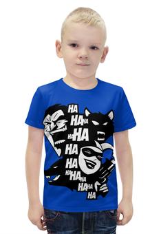 """Футболка с полной запечаткой для мальчиков """"Джокер и Харли Квинн (Бэтмен)"""" - джокер, dc comics"""
