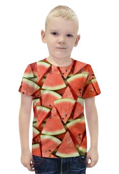 """Футболка с полной запечаткой для мальчиков """"WATERMELON"""" - еда, фрукты, ягоды, арбуз, watermelon"""
