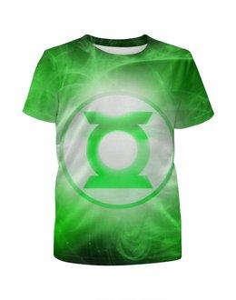 """Футболка с полной запечаткой для мальчиков """"Зелёный Фонарь (Green Lantern)"""" - green lantern, зелёный фонарь"""
